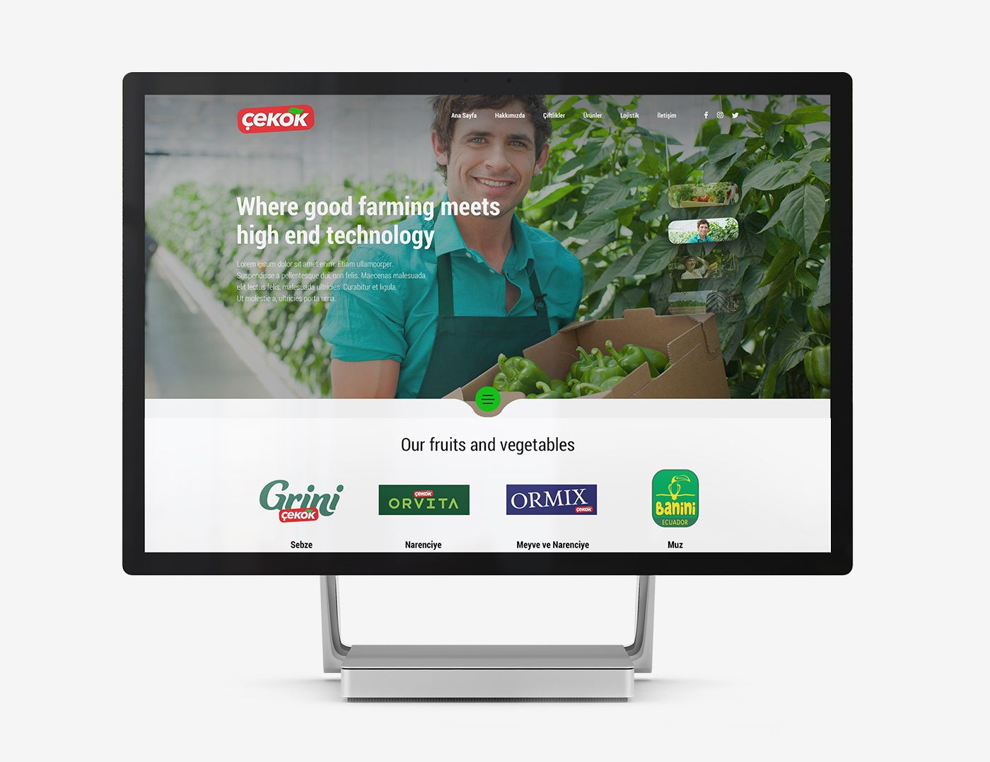 Food exporter website